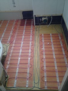Glasgow bathroom design underfloor heating